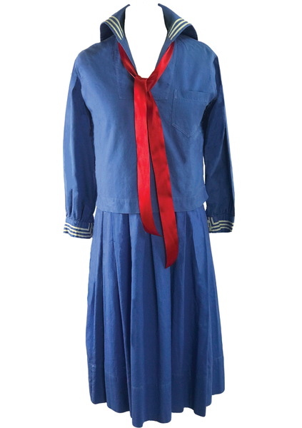 Vintage Rare 1920s Flapper Cotton Sailor Dress - New!