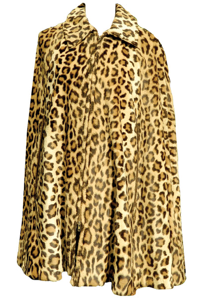 Vintage 1960s Faux Leopard Cape  - New! (ON HOLD)