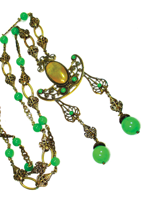 Elegant 1910 - 1920s  Czech Sautoir Necklace- New!