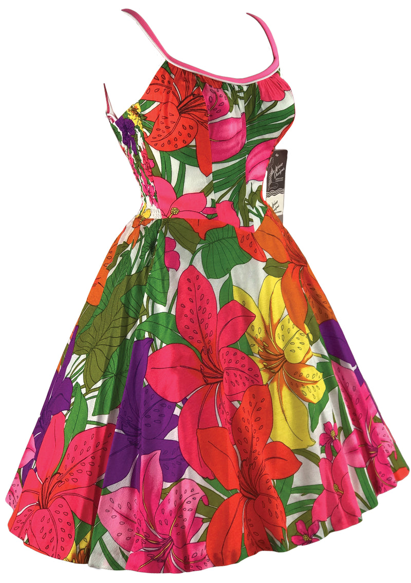 Vintage 1960s De Weese Bright Floral Sundress- New!
