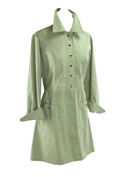 Vintage 1970s Celery Green Lightweight Coat - New!