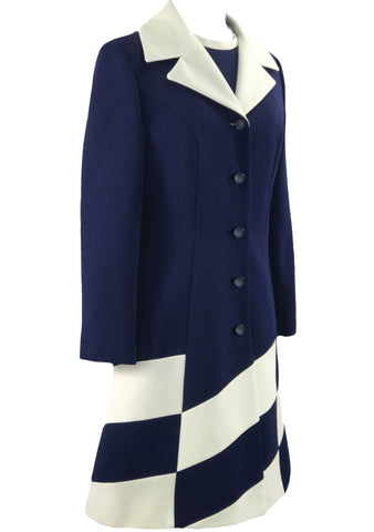 Couture 1960s Navy & White Lilli Ann Ensemble - New! (ON HOLD)