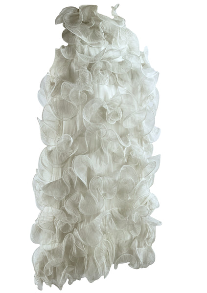 Vintage 1960s Ivory Organza Ruffle Dress- New! (ON HOLD)