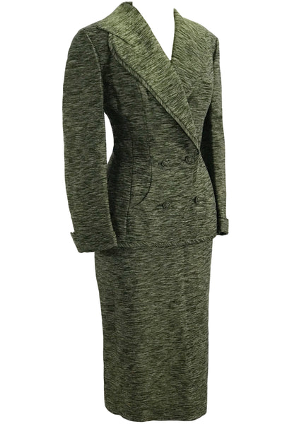 Vintage 1950s Green Silk Lilli Ann Suit - New! (