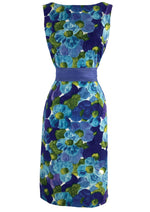 Early 1960s Don Loper Designer Cotton Wiggle Dress- New!