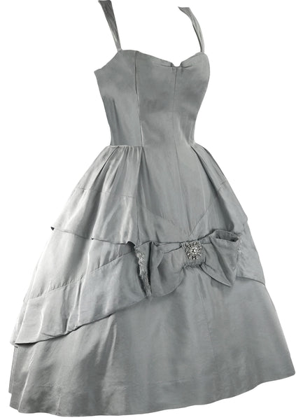 1950s Designer Suzy Perette Silk Satin Party Dress - New !