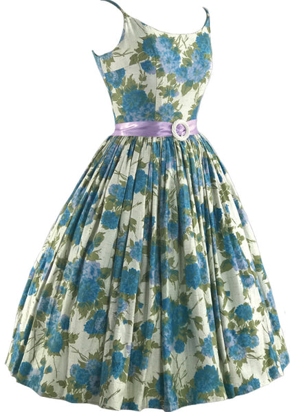 Maggie's 2nd Payment Blue Floral Sundress
