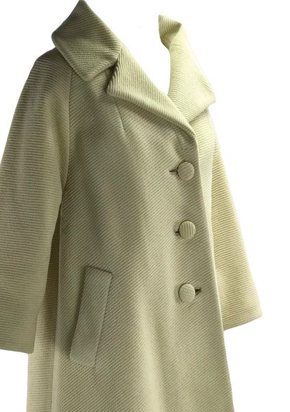 Early 1960s Lilli Ann Cream Wool Designer Coat- New!