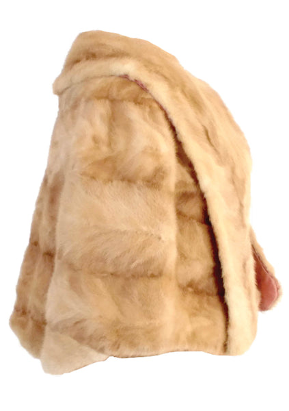 Original 1950s Palomino Honey Mink Capelet Wrap