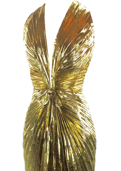 Amazing Travilla Designer Gold Marilyn Gown  - New!