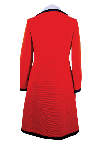 1960s Couture Lilli Ann Red Mod Coat- New!