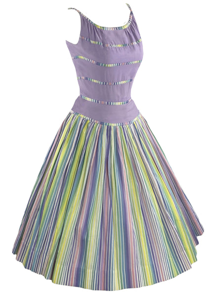 1950s Candy Stripe Designer Dress Ensemble- New!