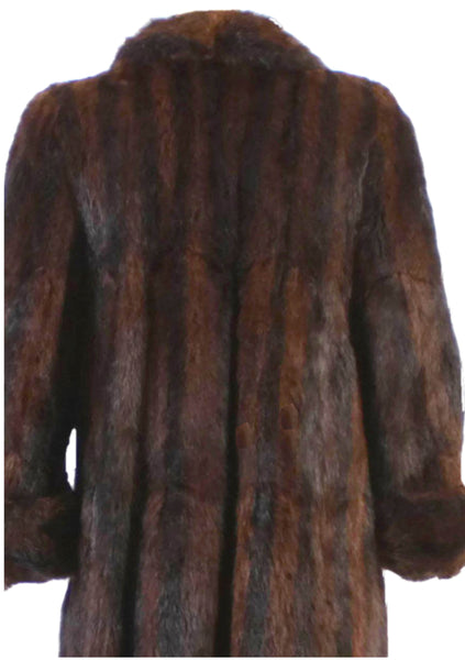 Original 1950s Lush Mahogany Mink Full Coat