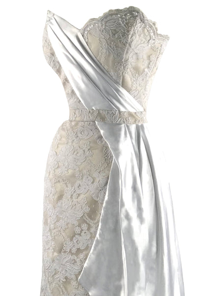 Recreation of Marilyn's Ivory Lace Gown- New!
