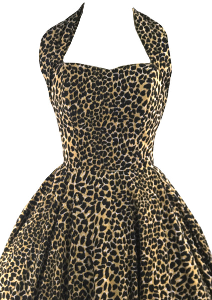Sensational Wild Cat Cotton Dress 1980s does 1950s- New!
