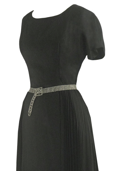 Vintage 1950s Black Lilli Ann Cocktail Dress- New!