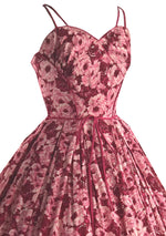 Sensational 1950s Pink Roses Cotton Sundress- New! (ON HOLD)