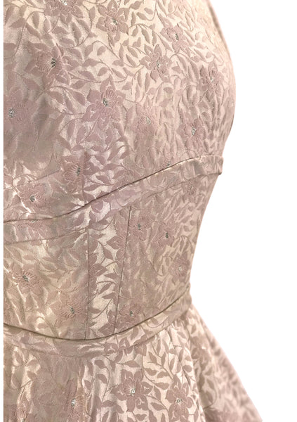 Vintage 1950s Dusty Pink Brocade Dress  - New!