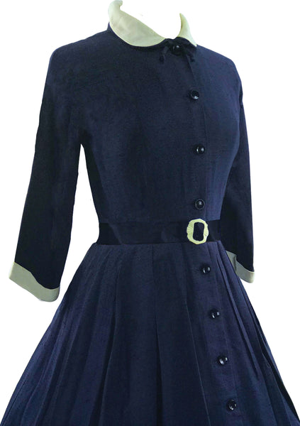 Vintage 1959s Navy New Look Dress- New!