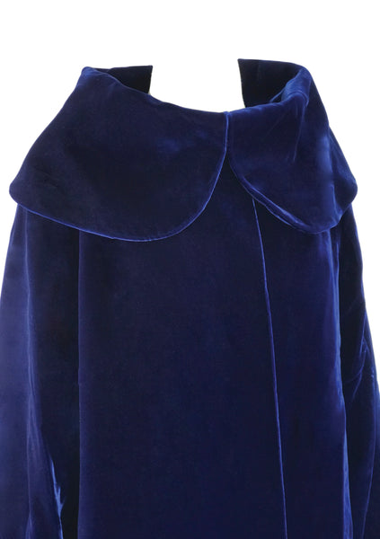 Vintage 1950s Blue Velvet Coat - New!