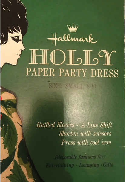 Vintage 1960s Holly Paper Party Dress - New!