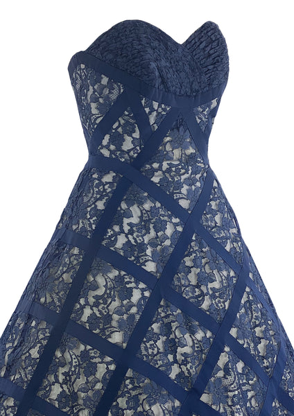 Stunning 1950s Blue Lace Cocktail Dress - New! (RESERVED)