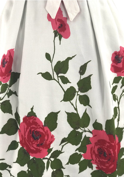 Late 1950s Early 1960s Red Roses Pique Dress - New! (RESERVED)