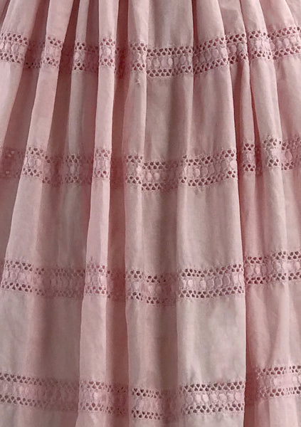 Vintage 1950s Pink Embroidered Cotton Dress- New!