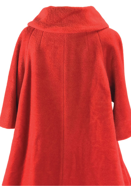 Early 1960s Couture Lilli Ann Red Mohair Coat- New!