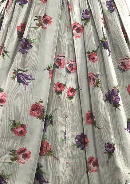 Vintage 1950s Roses  Floral Print Cotton Sundress- New!