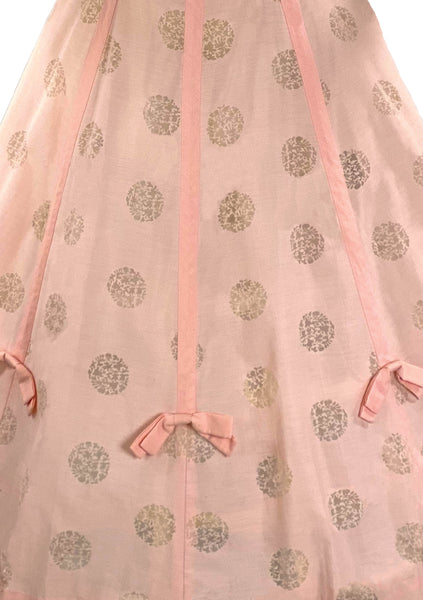 Vintage 1950s Shell Pink Medallion Dress- New!