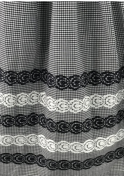 Vintage 1950s B&W Gingham with Border Print Dress- New!