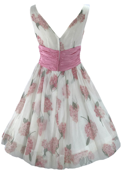 1950s Pink Hydrangeas Party Dress Ensemble - New! (Layby)