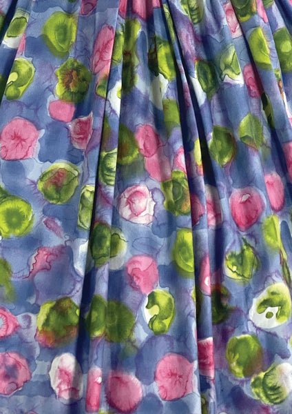 Vintage 1950s Abstract Floral Cotton Dress- New!