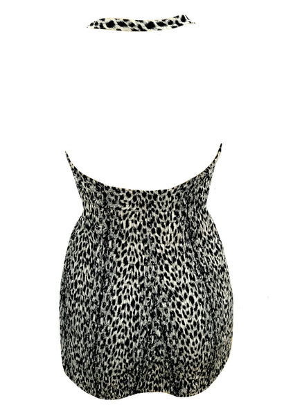 Deadstock 1950s Leopard Print Cotton Swimsuit- New!