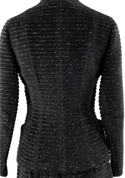 Vintage 1950s Black Flecked Wool Lilli Ann Designer Suit- New!