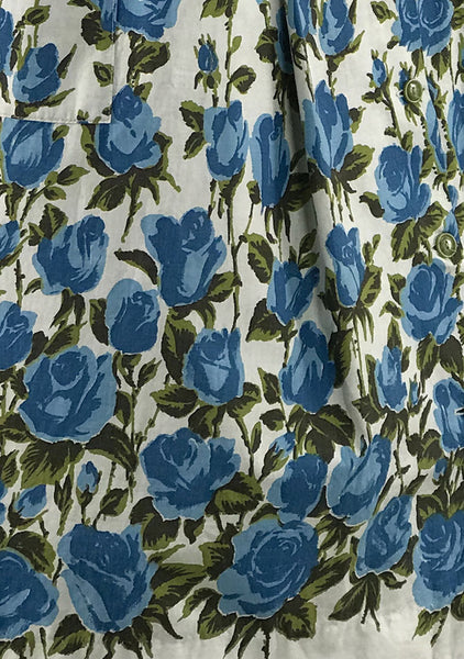 Final Payment for Victoria 50s Blue Roses Border Print Dress