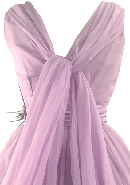 Vintage 1950s Lavender Chiffon Party Dress  - New!