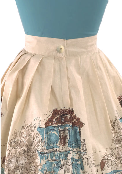Vintage 1950s Parisienne Scenic Skirt- New!