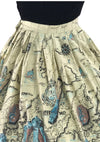Vintage 1950s Nautical Theme Novelty Skirt - New!