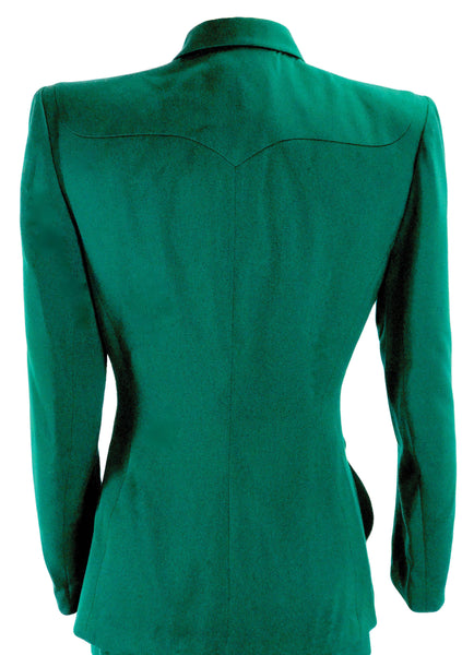 Rare Early Couture 1940s Green Lilli Ann Suit - New! ( ON HOLD)