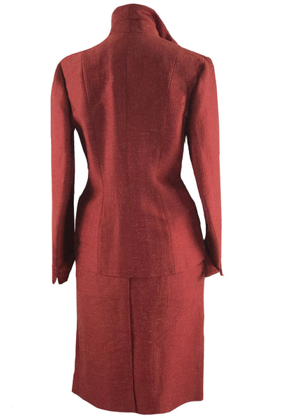 1950s Designer Lilli Ann Cranberry Red Silk Suit- New!