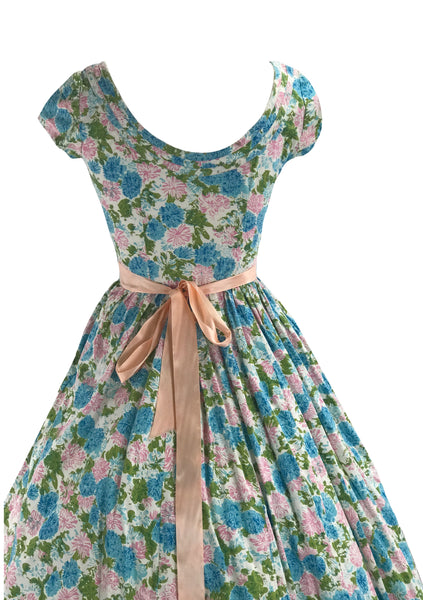 Vintage 1950s Jerry Gilden Carnations Dress- New!