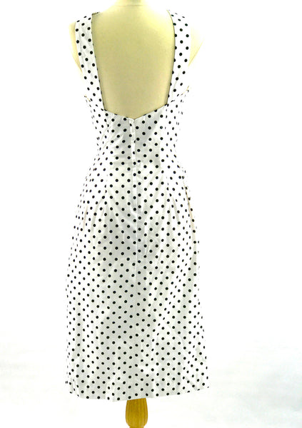 Recreation of Marilyn Monroe's White & Black Spot Day Dress - New!