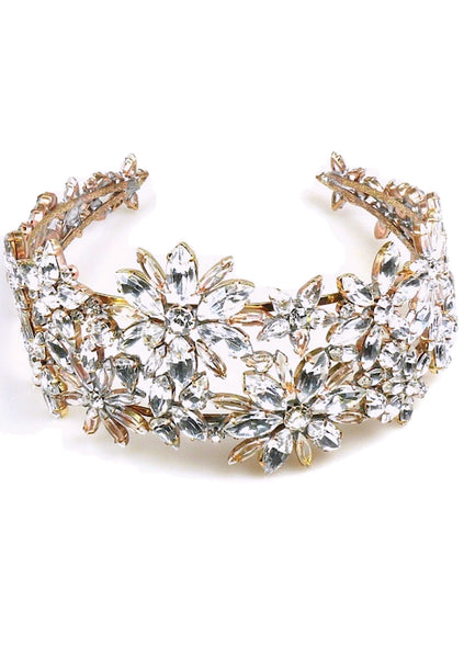 Spectacular Large Clear Crystal Headband