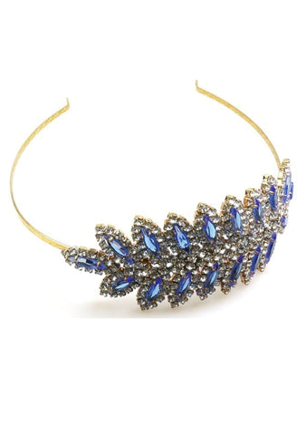 Olde-World Sapphire and Clear Rhinestone Headband - Sold!