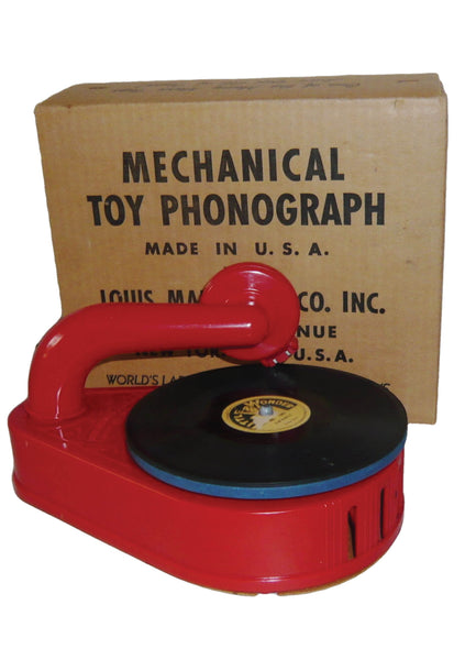 Vintage 1950s Marx Toy Phonograph - New!