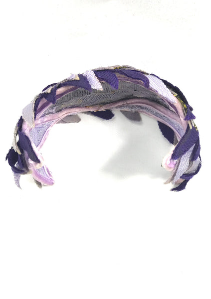 Vintage 1950s Purple and Lilac Floral Bandeau - New!