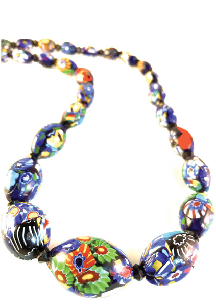 Beautiful 1920-1930s Art Deco Venetian Bead Necklace - New!