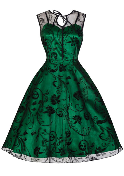 Recreation  1950s Emerald Green Party Dress XL - New! (Dave)